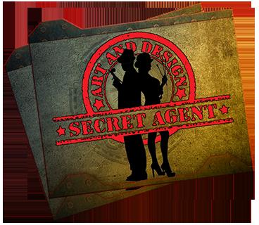 Secret Agent Art and Design Retina Logo